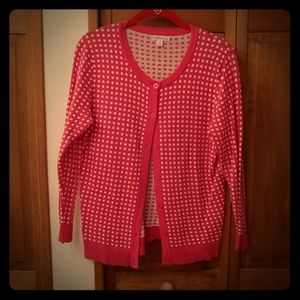 Merona (Target) 2 Dotted Cardigans; Preowned